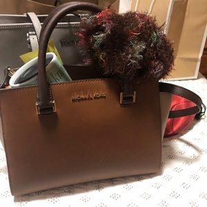 Brand new 2-tone brown Michael Kors bag